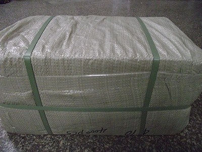 Export corrugated carton with plastic woven bag outer package for LCL cargos